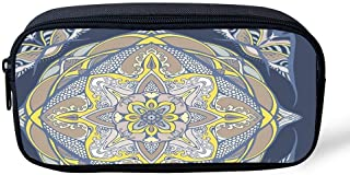 HelloPnR Pencil Case Big Capacity Barocco Color Mandala Pencil Bag Makeup Pen Pouch Durable Students Stationery with Zipper Pen Holder for School/Office