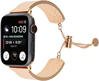 Pulsera de acero inoxidable 316 para hombre y mujer Love Dfch Simple en relieve para Apple Watch Series 5 y 4 de 40 mm/3, ...