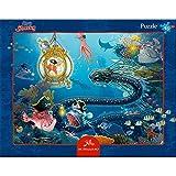 Spiegelburg Puzzle con Marco de 40 piezas En El Fondo del Mar Capitán Sharky Aventurero
