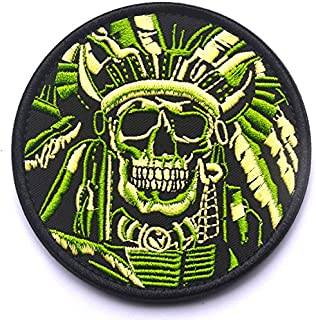 WZT Death Skull War Chief Indian Usa Army Morale Military Tactical Swat Patch (1)