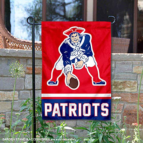 WinCraft New England Patriots Retro Pat Patriot Double Sided Garden Flag