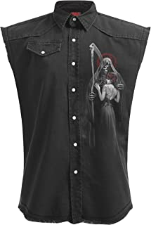 Mens - Dead Kiss - Sleeveless Stone Washed Worker Plus Size