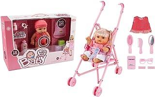 Basmah 10inch Doll with Plastic Stroller Play Set W/12 Sound - 32-1450185