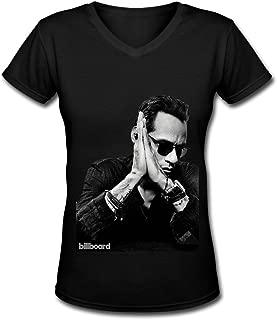Love Latin Marc Anthony Tour 2016 Women's V Neck Tee Shirt