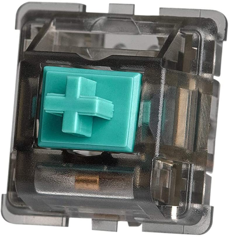 DUROCK T1 Tactile Switch, 67g Mechanical Key Switches, Unique Tactile Feelings, 5 Pins Tactile Switches for Mechanical Keyboards (10pcs, Smokey Housing)