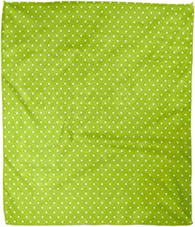 Emvency Decorative Throw Blanket 60 x 80 Inches White Birthday for Bright Lime Green Small Polka Dots Pattern Polkadots Blog Warm Flannel Soft Blanket for Couch Sofa Bed
