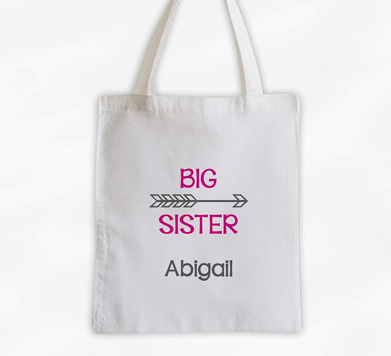 Big Sister Tote Bag with Arrow Year-end gift Cotton Easy-to-use Girls Overn Personalized -