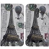 TienJueShi Eiffelturm Flip Book-Style Brief Leder Tasche Schutz Hulle Handy Hülle Abdeckung Fall Wallet Cover Etui Skin Fur Blackview BV9000 Pro 5.7 inch