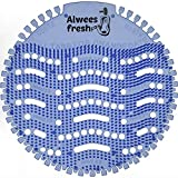 Alwees Fresh - Urinaleinlage (Urinalsieb) - Geruchsneutralisator mit beliebtem Blaue Lagunenbrise Duft - 10-Stück Pack - Passend für die meisten Urinale & Pissoirs - Einschließlich wasserloser Urinale