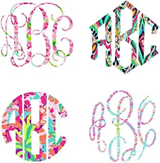 Lilly Inspired Vinyl | Custom Monogram Large Decal | Choose your Style, Print & Size | 5.5