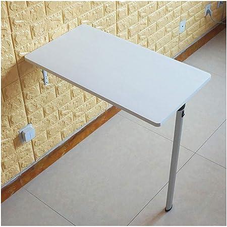 WYQ Table Pliante en Bois Montage Mural Table à Manger, Tables Pliantes en Bois avec charnière Durable et vis de Fixation, Charge Lourde, Stable et Facile à Installer Office Pliable Bureau