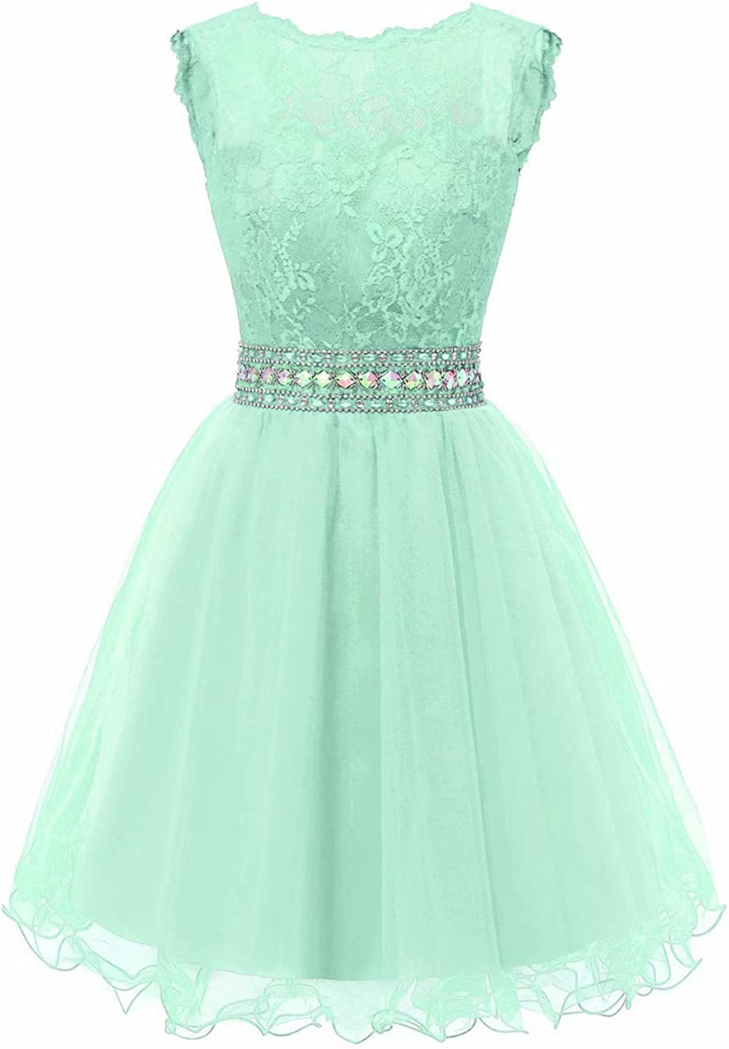 YOUTODRESS Women's Tulle Short Homecoming Dresses Lace Cocktail Evening for Junior