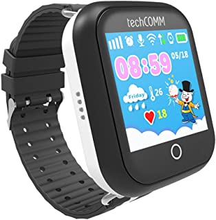 TechComm TD-10 Kids Smart Watch Touch Screen GPS Fitness Sleep Tracker