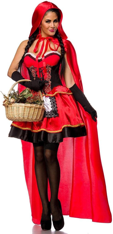Ahorre 35% - 70% de descuento Atixo Sexy Caperucita Caperucita Caperucita Roja Disfraz Rojo Negro  respuestas rápidas