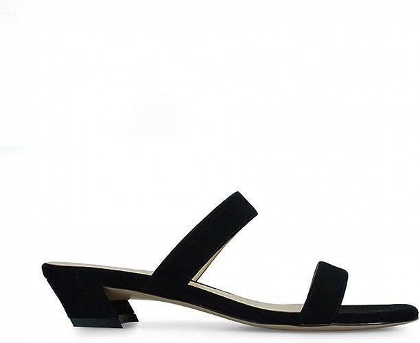DHG Mot de Mode avec des Chaussures Courtes Et Porter des Femmes,Noir,39