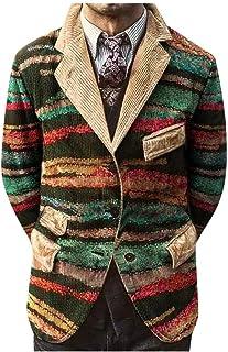 Chaquetas de Traje Hombre Chaqueta de Pana Solapa Blazer Casual Abrigo Informales Original Americana Hombre Impresión del ...