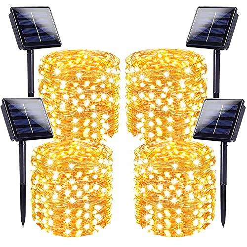 LORRYTE 4-Pack Solar String Lights,...