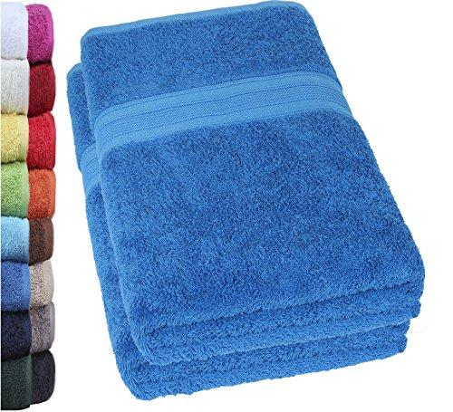 NatureMark 2er Pack DUSCHTÜCHER Premium Qualität 70x140cm DUSCHTUCH Dusch-Handtuch Doppelpack Farbe: Royal blau