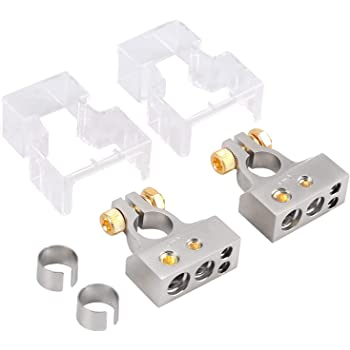 YGL 2 Pairs Cosses Batterie Serrage Rapide,12V Connecteur de Batterie /à D/égagement Rapide,Convient pour Voitures Camions Navires