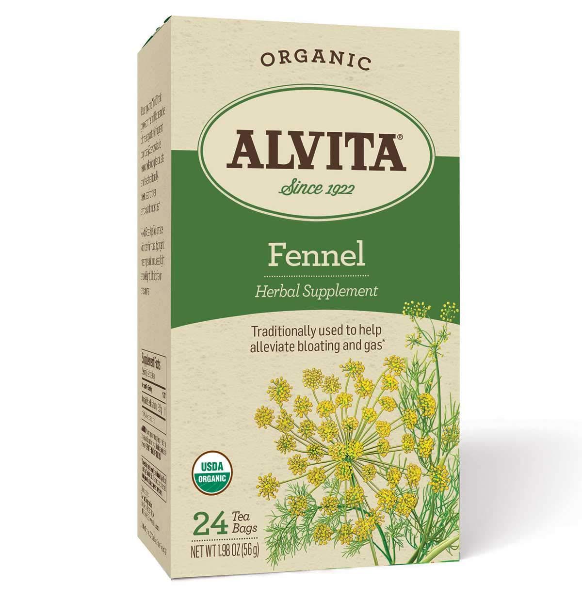Alvita Organic Herbal Tea 24 Box Fennel 贈り物 Teabags Multipack Per 人気ブレゼント
