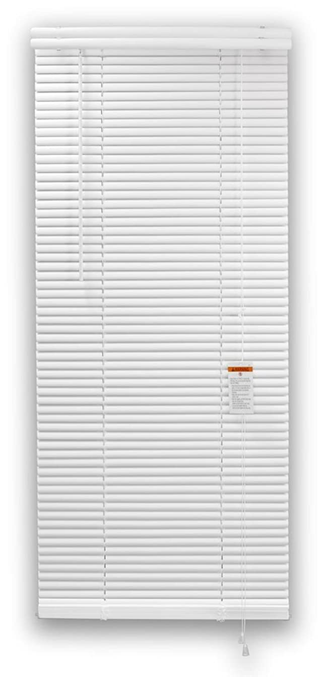 DEZ FURNISHINGS 29781 1-Inch Premium Vinyl Blind, 27-Inch W X 84-Inch L, White