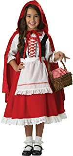 InCharacter Costumes, LLC Girls 2-6X Little Red Riding Hood Dress Set, Red/White, X-Small