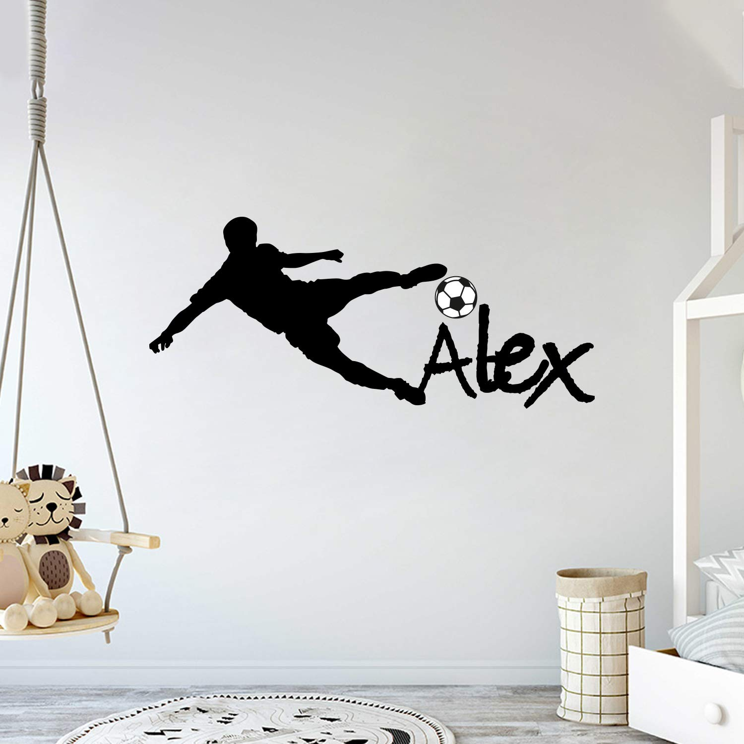 Custom Name - Soccer Player Manufacturer regenerated product Boy Baby's Mural V Room Girl National uniform free shipping