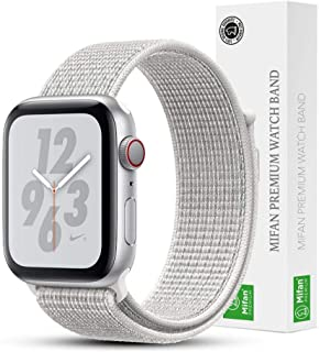 Mifan Official Nylon Loop Band for Apple Watch 40mm/38mm Series 1/2/3/4 Replacement Strap Mesh Soft Breathable Woven Sport...