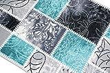 Teppich Modern, Flachgewebe, Gel-Läufer, Küchenteppich,Grau Tukis (TraumTeppich) Größe 80×150 cm - 3