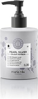 Maria Nila Colour Refresh Pearl Silver 300 ml - En Vårdande Färgbomb som Innehåller Tillfälliga Färgpigment som Snabbt Frä...