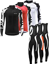 Uglyfrog Bike Wear Cycling Jersey Long Sleeve Men's Bike Suits Long Bib Pant with Gel Pad Spring&Autumen Triathlon Clothing