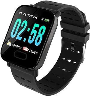 comprar comparacion OPAKY Reloj Inteligente Deportivo para Mujer Hombre Compatible con iOS y Android Smart Watch Hombres Mujeres Heart Rate Fi...