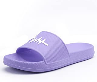Sumuzhe Cool and comfortable Women and Men's Beach Slipper PVC Indoor Sandals Summer must (Color : Purple, Size : 38EU)