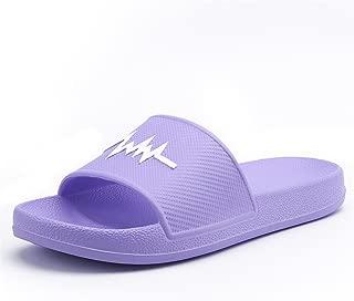 Skid Resistance Women and Men's Beach Skid Resistance Slipper PVC Indoor Sandals Leisure Slippers (Color : Purple, Size : 5.5 UK)