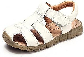 ce8e71b7eb9 HILEELANG Baby Boy Fisherman Leather Closed-Toe Sandal Beach Flat Shoes  (Toddler Little