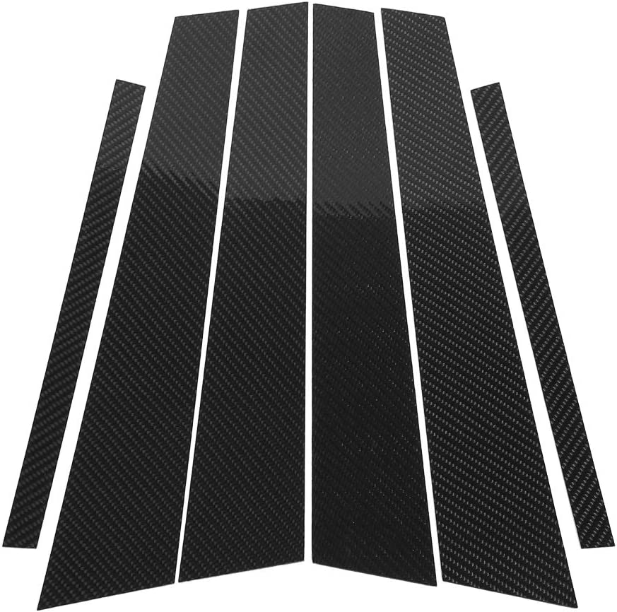 B Pillar Max 82% OFF Trim Carbon Fiber Window Car Deco Cover SEAL limited product B-pillars