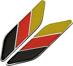 Xuxu521-2 adhesivos para guardabarros trasero de coche, diseño de bandera alemana italiana