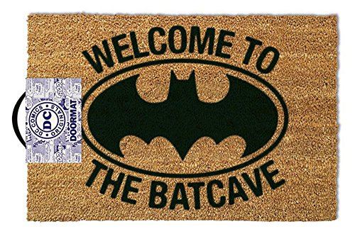 empireposter Batman Welcome to The Batcave - Fußmatte, Größe: 60 x 40 cm, Material Kokosfaser/PVC