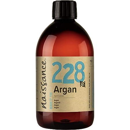 Naissance Aceite Vegetal de Argán de Marruecos n. º 228 – 500ml - Puro, natural, vegano, sin hexano y no OGM - Hidratación natural para el rostro, el ...