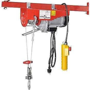 vidaXL Palan électrique 500 W 100/200 kg Palan treuils électrique Construction robuste