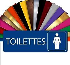 WC Dames | WC deurbordje | Naamplaatje reliëf PVC zelfklevend 5x15 cm | 19 kleuren Blauw