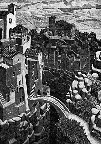 Tela Escher 29 Spedizione Gratis cm. 50 x 70 Stampa Artistica su Tela,Art Print on Canvas, Il Negozio di Alex