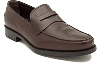 Tod's Men's Leather Penny Loafer Shoes Brown