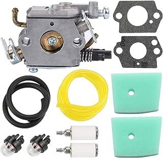 Wellsking C1Q-EL24 Carburetor for Husqvarna 123C 123L 123LD 223L 223R 322C 322L 322R 323C 323L 325C 325CX 325L 325LX 326C 326L 326LX String Trimmer Pole Saw + Air Filter Tune Up Kit