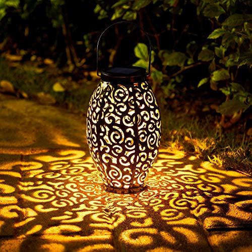 Solar Laterne für Außen,OxyLED 1 Stück IP44 Wasserdicht Dekorativ Solar Gartenleuchte,Solarlampe Outdoor Dekorationen für Weg Garten Patio Terrasse und Hof Weihnachten(Warmweiß)