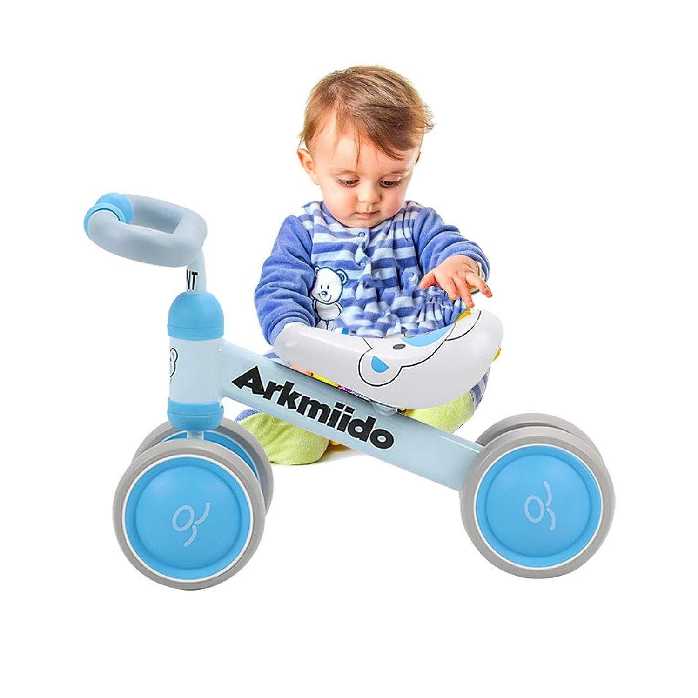 1?3歳のお子様用Arkmiido自転車、子供用自転車のバランス、ペダルなしの三輪車、ファーストバイクレッドカラー(ブルー)