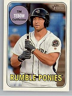 2018 Topps Heritage Minor League Baseball #180 Tim Tebow Binghamton Rumble Ponies Official MILB Trading Card