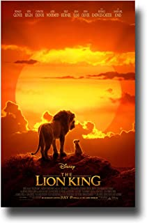 Lion King Poster Movie Promo 11 x 17 inches Live Action Sunset