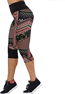 581d4b59f18f8 Ouneed® Femmes Fitness Sport Leggings Corsaire (M, Rouge)