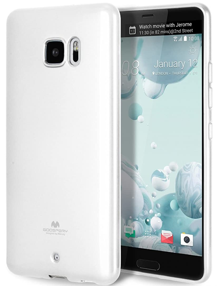 GOOSPERY Marlang Marlang HTC U Ultra Case - White, Free Screen Protector [Slim Fit] TPU Case [Flexible] Pearl Jelly [Protection] Bumper Cover for HTC UUltra, HTCUUTR-JEL/SP-WHT